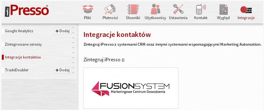 integracja fusionsystem