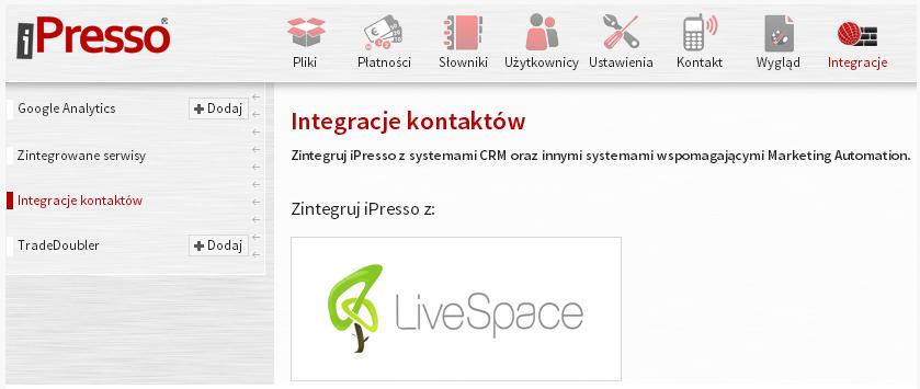 integracja z livespace