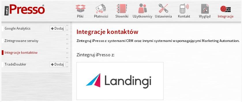 integracja z landing